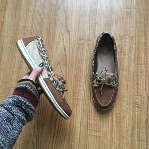 Sperry Topsider Animal Print Boat Shoes